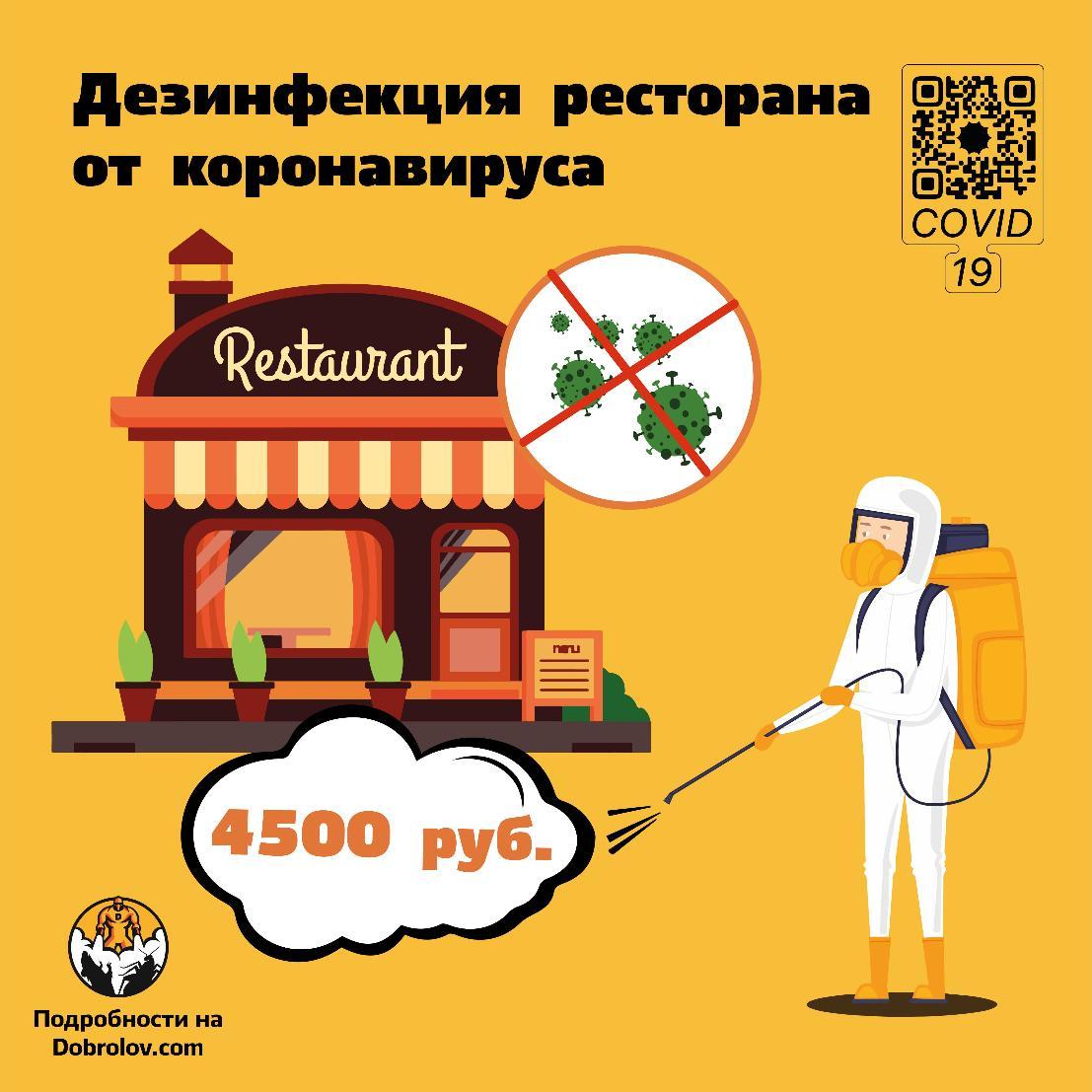 Дезинфекция ресторана от коронавируса